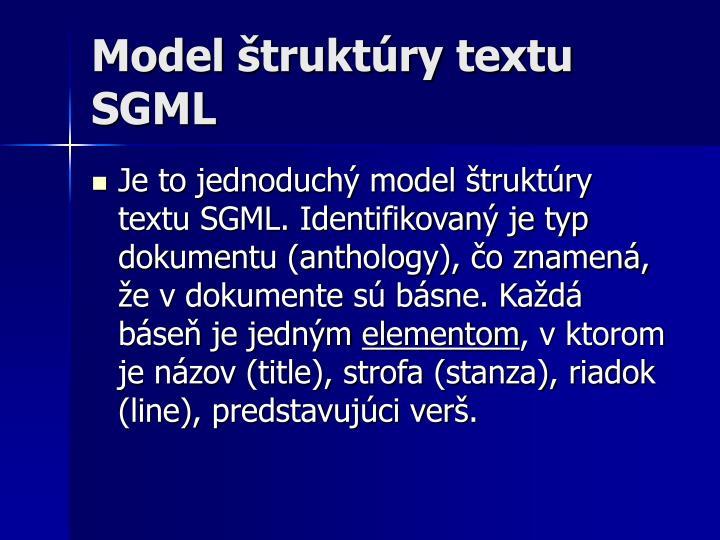 Model štruktúry textu SGML