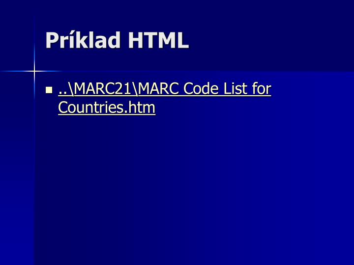 Príklad HTML