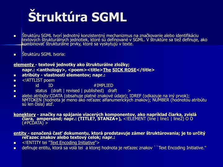 Štruktúra SGML