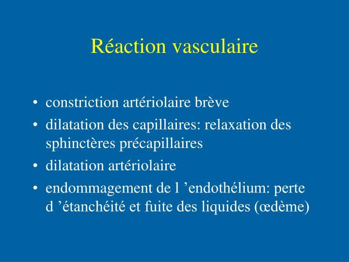 Réaction vasculaire