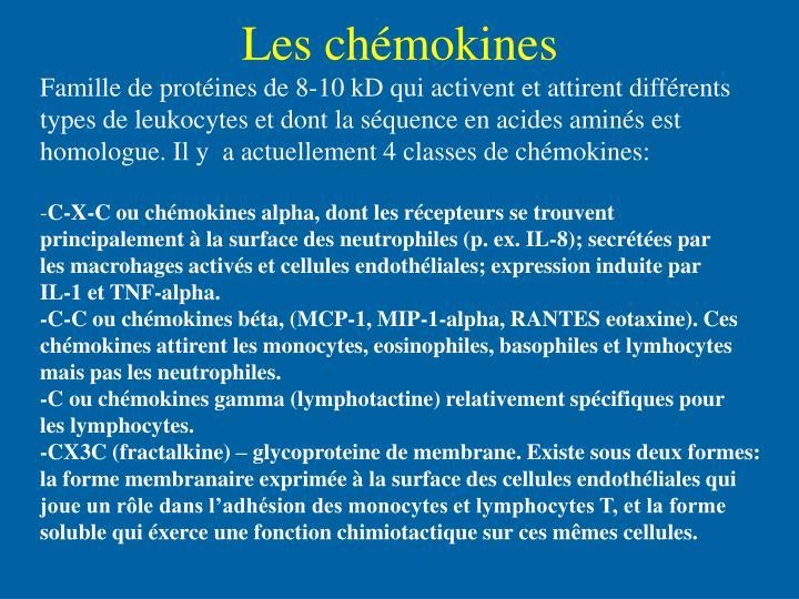 Les chémokines