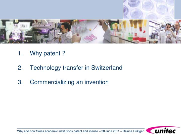 Why patent ?
