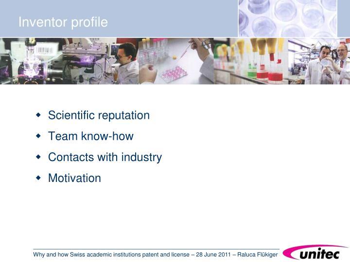 Inventor profile