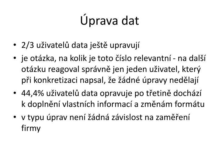 Úprava dat