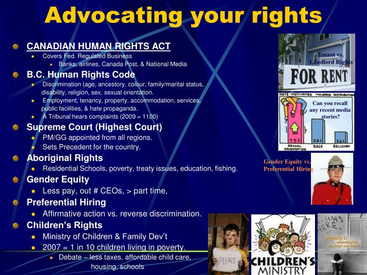 Advocating your rights