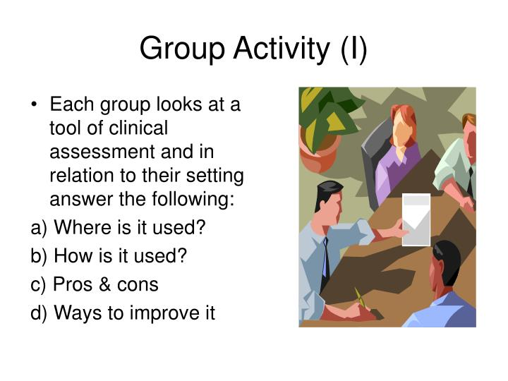 Group activity i
