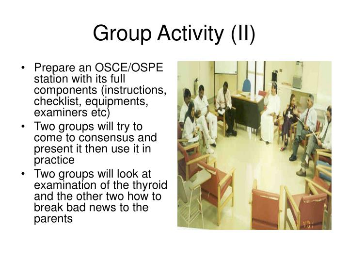 Group activity ii