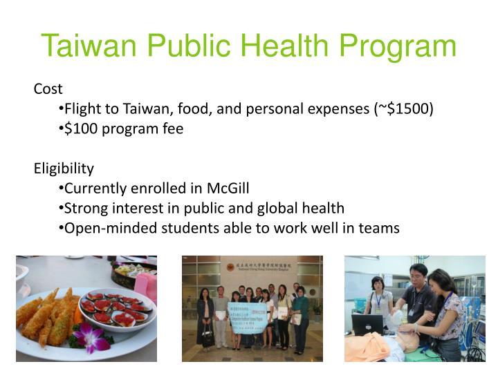 Taiwan Public Health Program
