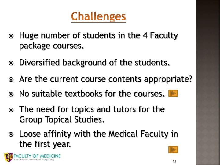 Huge number of students in the 4 Faculty package courses.