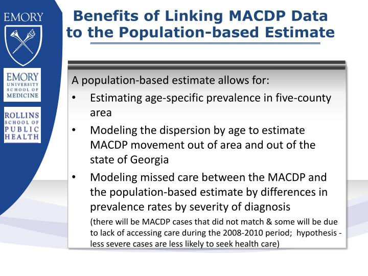 Benefits of Linking MACDP Data