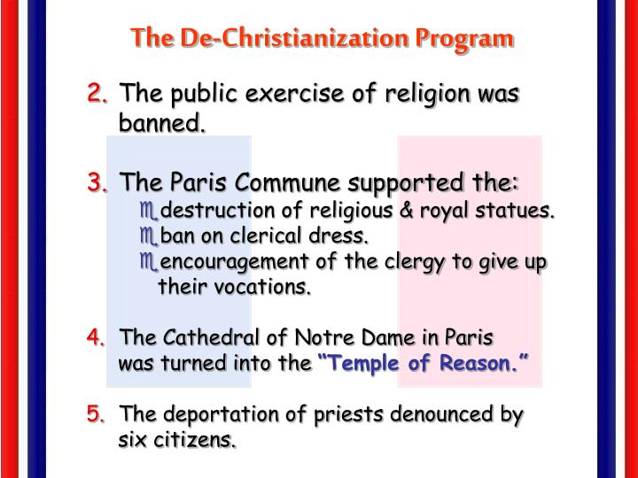 The De-Christianization Program