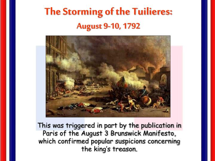 The Storming of the Tuilieres: