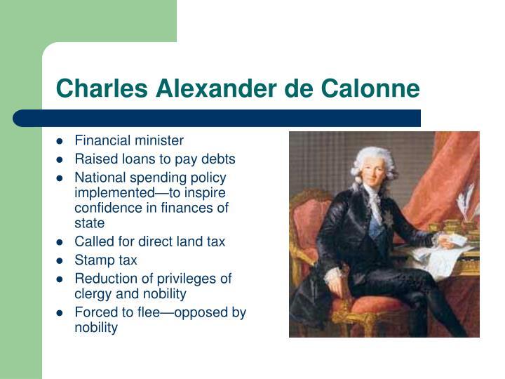 Charles Alexander de Calonne