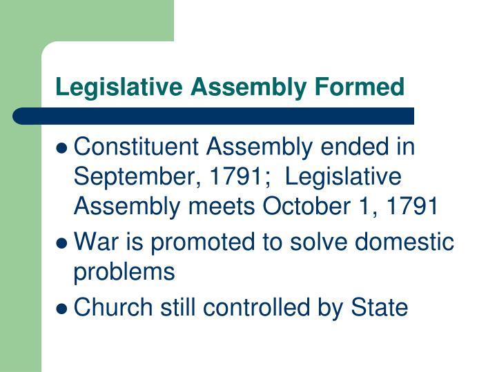 Legislative Assembly Formed
