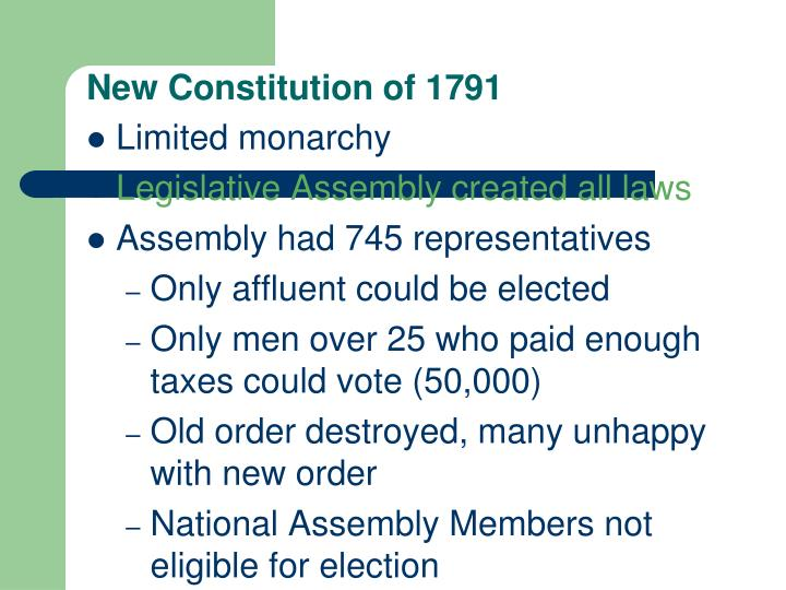 New Constitution of 1791