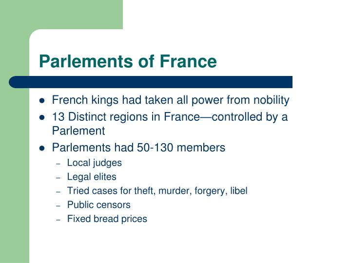 Parlements of France