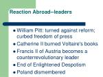 reaction abroad leaders