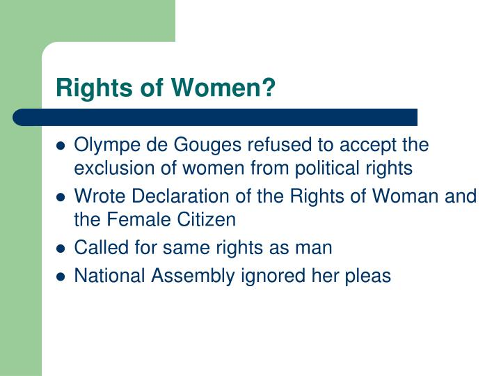 Rights of Women?