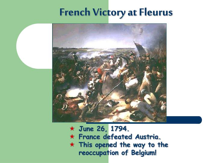 French Victory at Fleurus