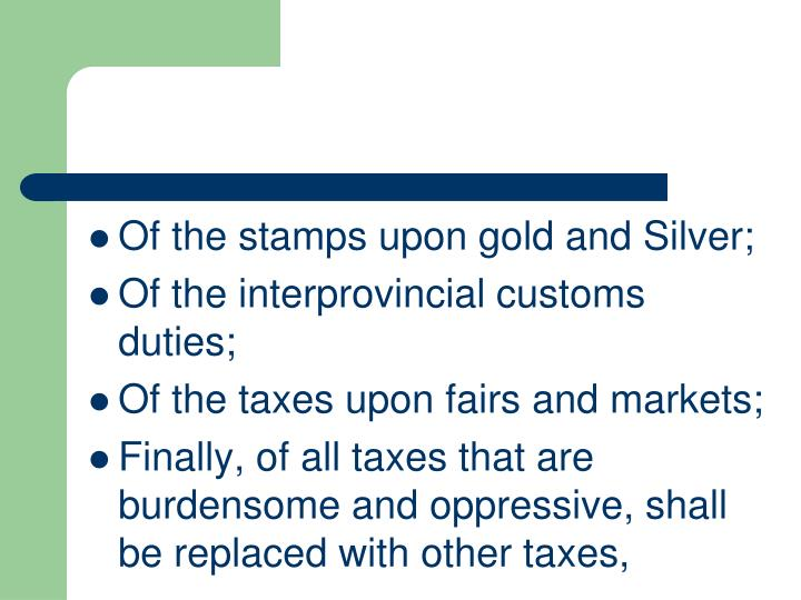 Of the stamps upon gold and Silver;