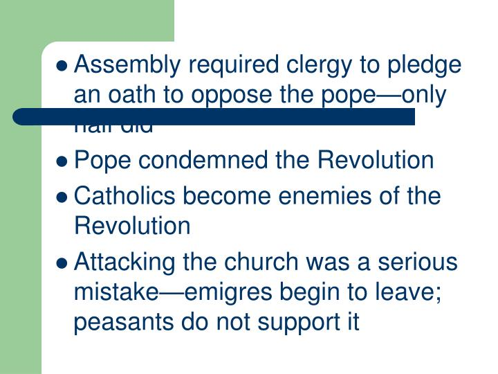 Assembly required clergy to pledge an oath to oppose the pope—only half did