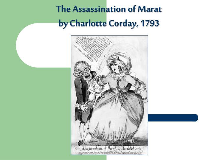 The Assassination of Marat