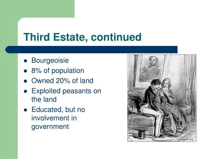 Third Estate, continued