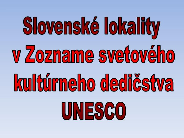 Slovenské lokality