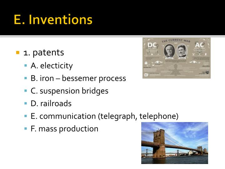 E. Inventions
