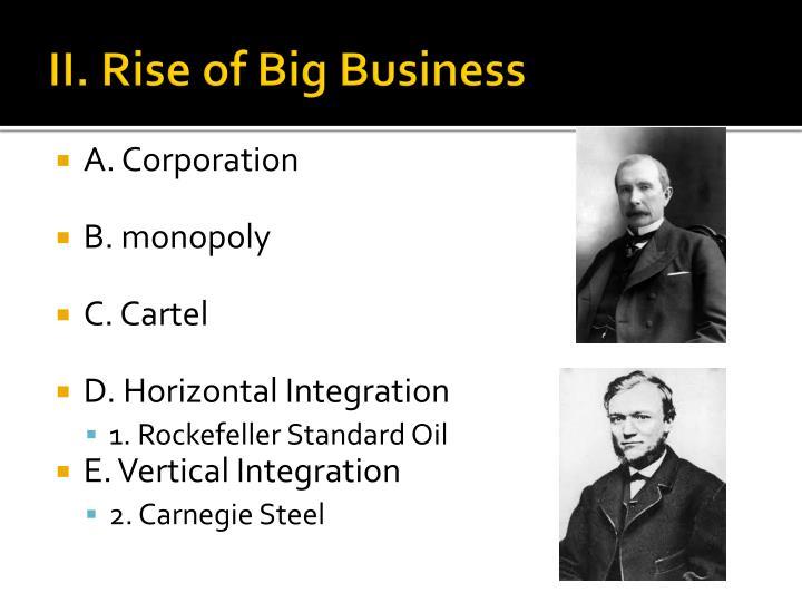 II. Rise of Big Business