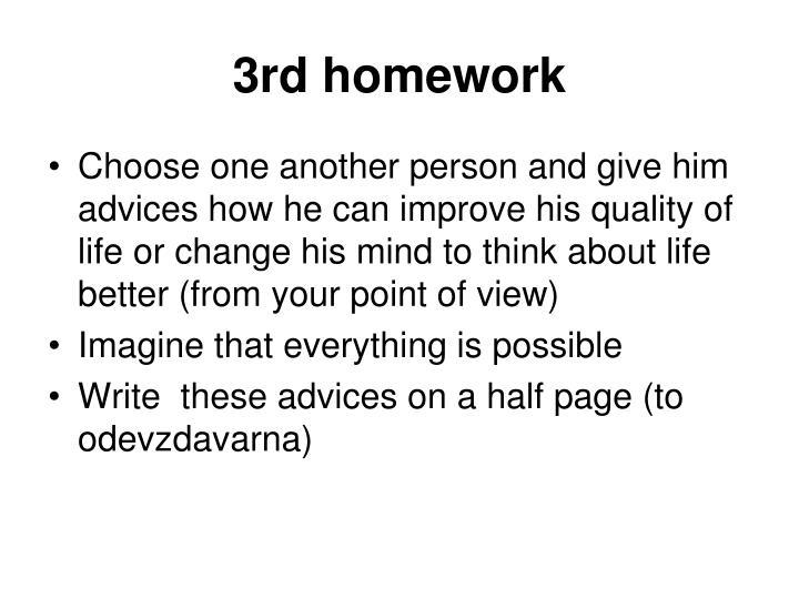 3rd homework