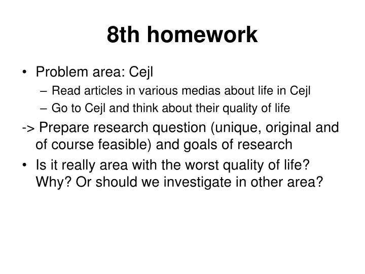 8th homework