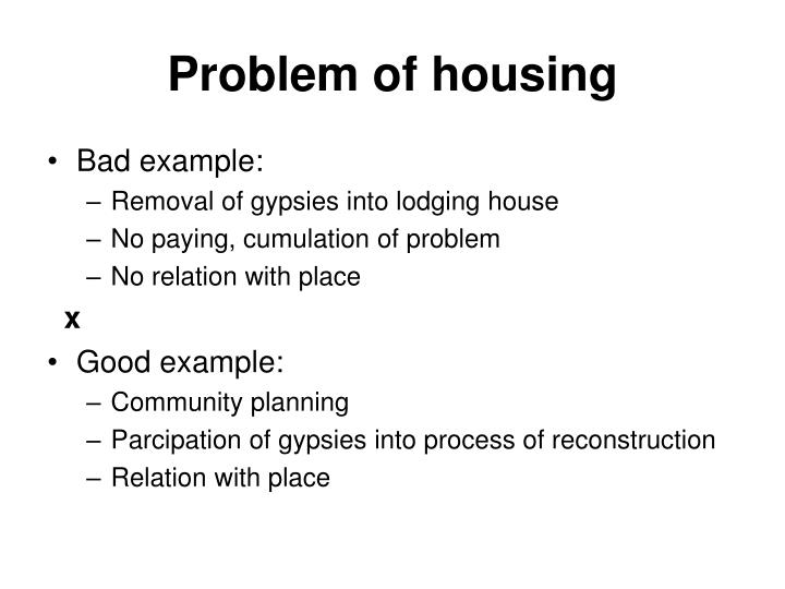 Problem of housing