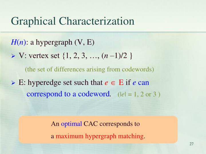 Graphical Characterization