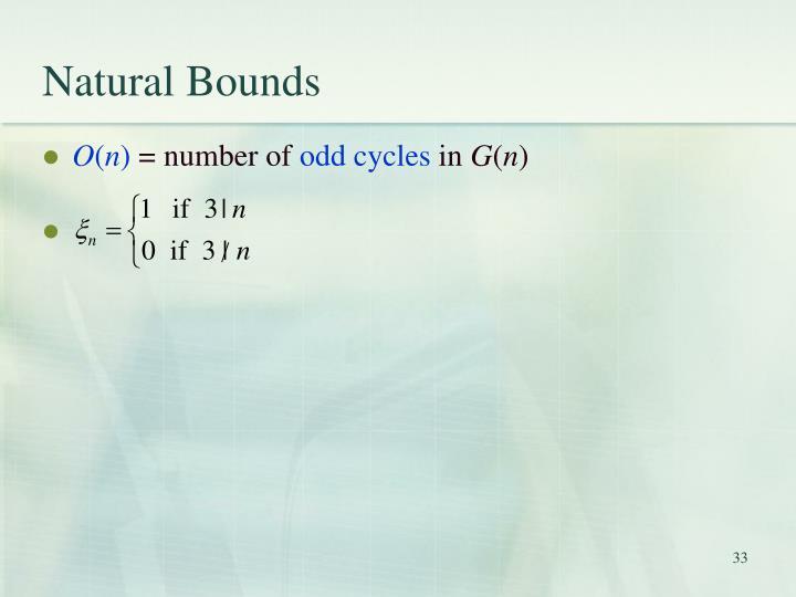 Natural Bounds