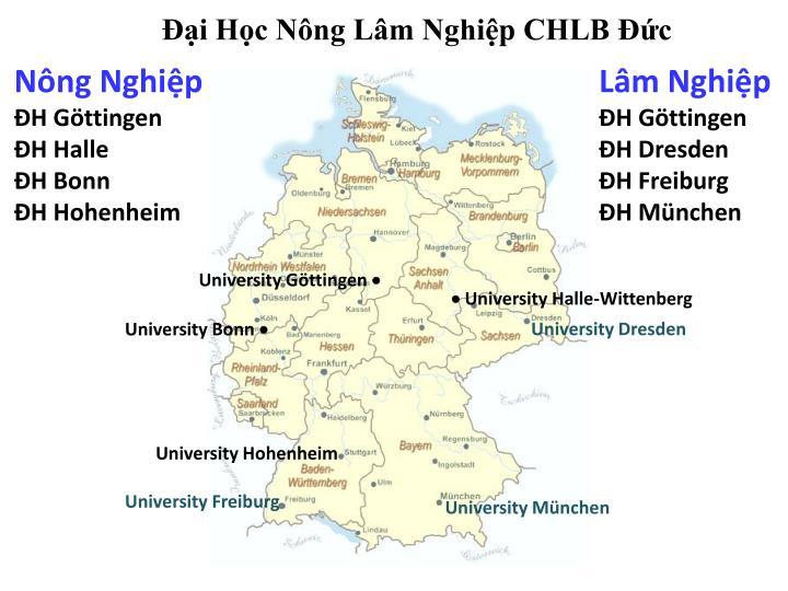 Đại Học Nông Lâm Nghiệp CHLB Đức