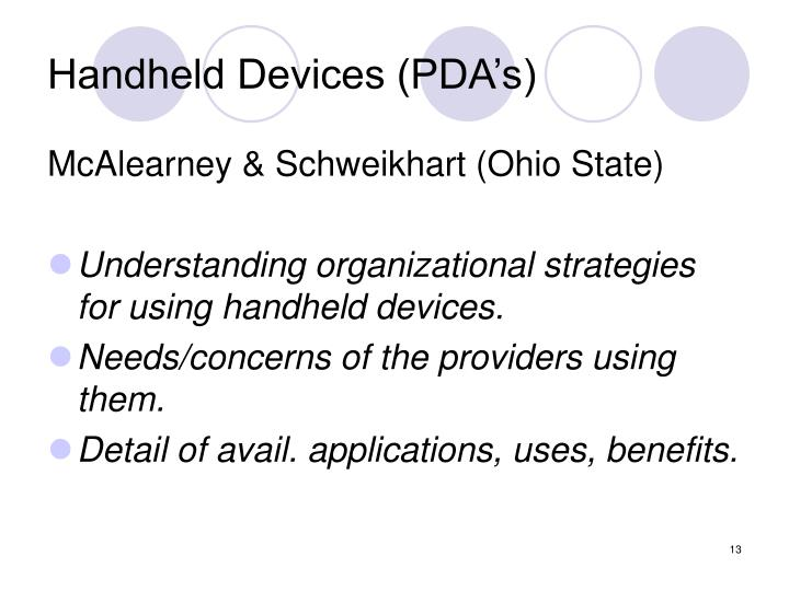 Handheld Devices (PDA's)