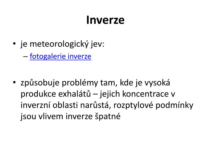 Inverze