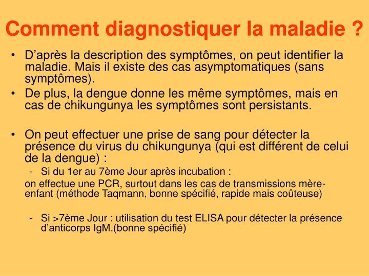 Comment diagnostiquer la maladie ?
