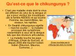 qu est ce que le chikungunya