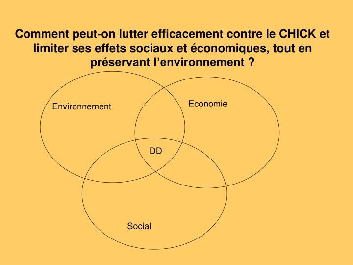 Comment peut-on lutter efficacement contre le CHICK et limiter ses effets sociaux et économiques, tout en préservant l'environnement?