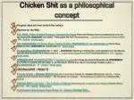 chicken shit as a philosophical concept1