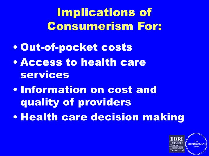 Implications of Consumerism For: