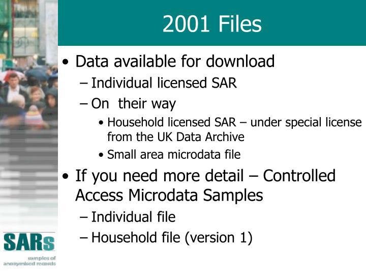 2001 Files