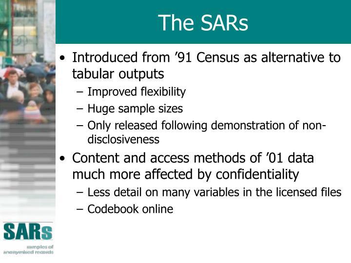 The SARs