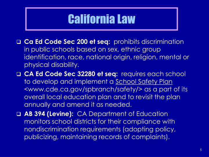 California Law