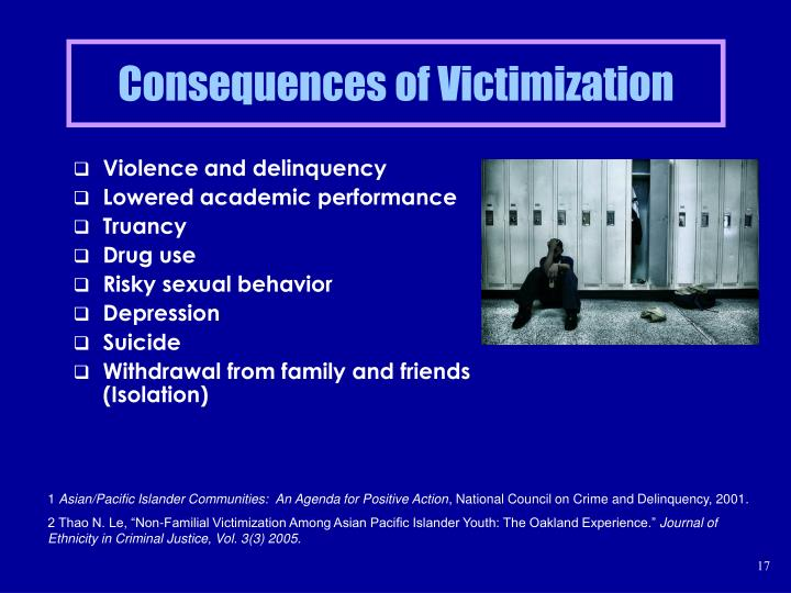 Consequences of Victimization