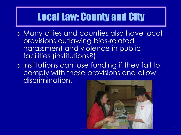 Local Law: County and City