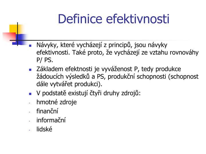 Definice efektivnosti