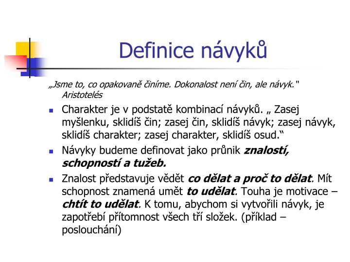 Definice návyků